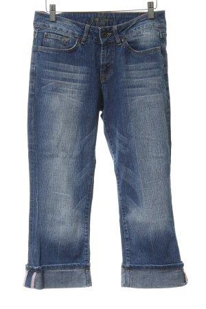 Zero Jeans a 3/4 blu acciaio stile casual