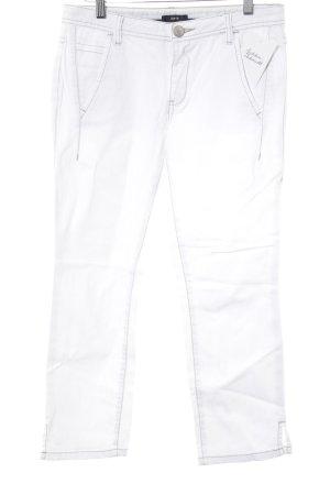 Zero Jeans a 7/8 bianco stile casual