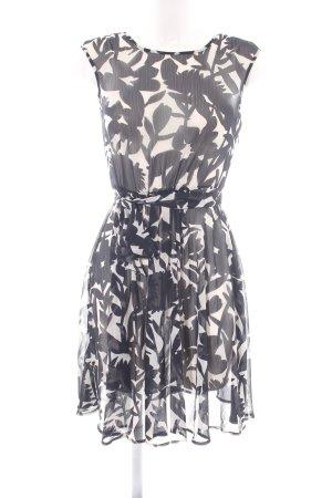 Zero A-Linien Kleid schwarz-wollweiß Allover-Druck Business-Look
