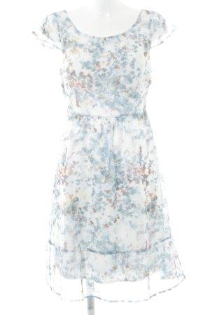 Zero A-Linien Kleid Blumenmuster Romantik-Look