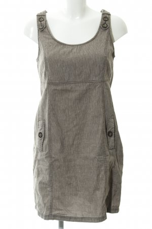 Zero A-Linien Kleid dunkelbraun Hahnentrittmuster Casual-Look