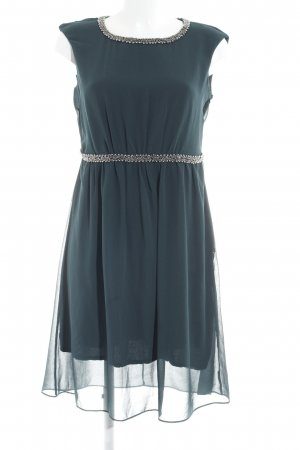 Zero A-Linien Kleid dunkelgrün-silberfarben Business-Look