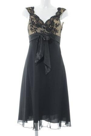 Zero A-Linien Kleid schwarz-beige Elegant