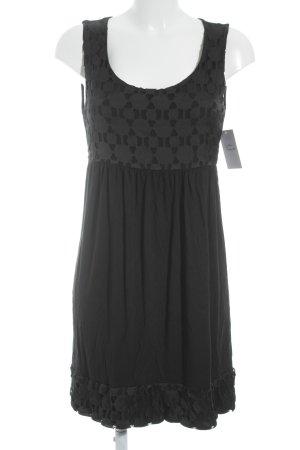 Zero A-Linien Kleid schwarz Punktemuster Elegant