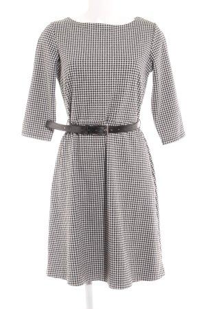 Zero A-Linien Kleid schwarz-weiß Karomuster Business-Look