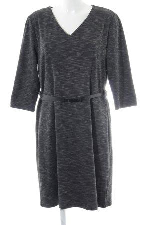 Zero Jerseykleid schwarz-silberfarben meliert Business-Look