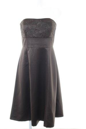 Zero Abendkleid dunkelbraun Glanz-Optik