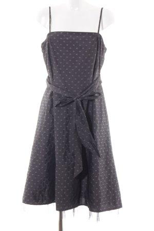 Zero Evening Dress dark grey spot pattern elegant