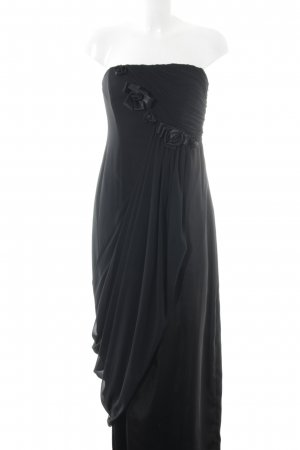 Zero Abendkleid schwarz florales Muster Elegant