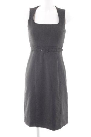 Zero Abendkleid schwarz-hellbeige Nadelstreifen Business-Look