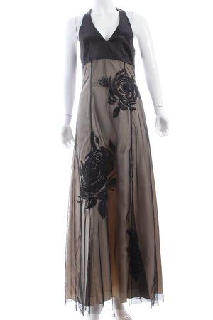Zero Abendkleid schwarz-hellgelb Eleganz-Look