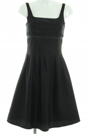 Zero Abendkleid schwarz Punktemuster Elegant