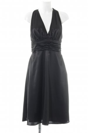 Zero Abendkleid schwarz Wickel-Look