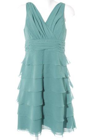 Zero Abendkleid waldgrün-kadettblau Elegant