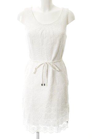 Zero Abendkleid weiß florales Muster Romantik-Look