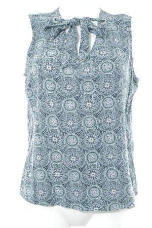 Zero ärmellose Bluse abstraktes Muster Casual-Look