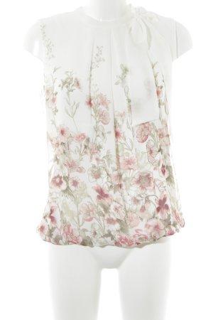 Zero ärmellose Bluse Blumenmuster Casual-Look