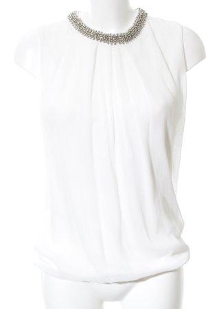 Zero Sleeveless Blouse white casual look