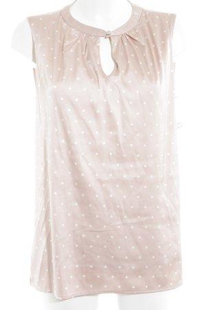 Zero ärmellose Bluse rosé-weiß Punktemuster Elegant