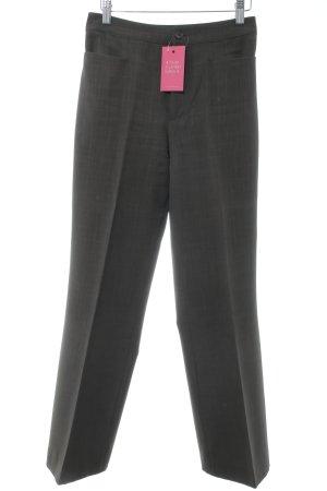 Zero Pantalone da abito verde scuro stile professionale