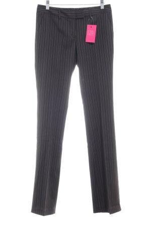 Zero Pantalone da abito nero-beige gessato stile professionale