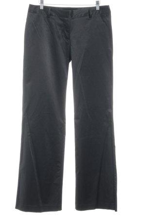 Zero Pantalone da abito nero stile professionale