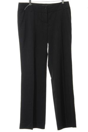 Zero Pantalone da abito nero-grigio scuro gessato stile professionale