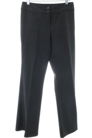 Zero Pantalone da abito nero motivo a righe stile professionale