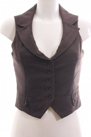 Zero Waistcoat brown weave pattern business style