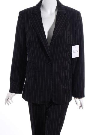Zero Base Tailleur-pantalon noir-gris rayure fine style d'affaires