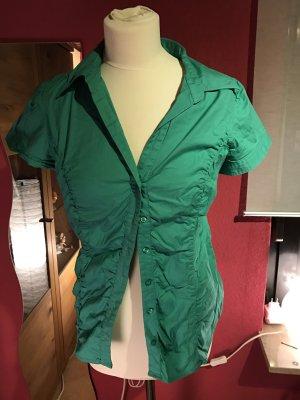 Zero Bluse Oberteil Shirt grün Sommer