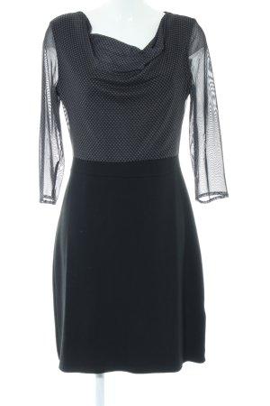 Zero Blusenkleid schwarz abstraktes Muster Business-Look