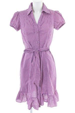 Zero Blusenkleid pink-weiß Allover-Druck Casual-Look