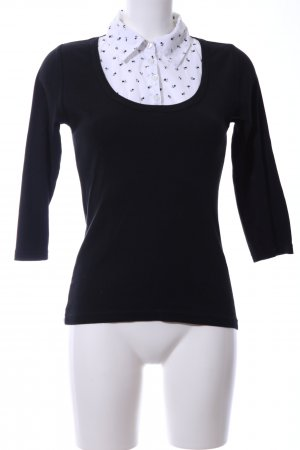 Zero Blouse Collar black-white business style