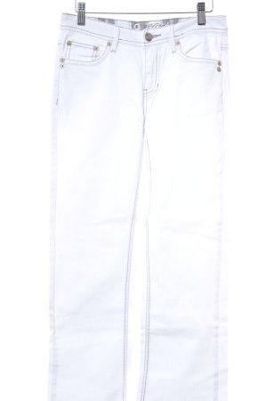 """Zero Jeans bootcut """"Boston"""" blanc"""