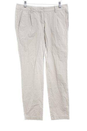 Zero Pantalon à pinces gris brun style décontracté