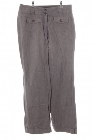 Zero Pleated Trousers natural white-grey striped pattern business style