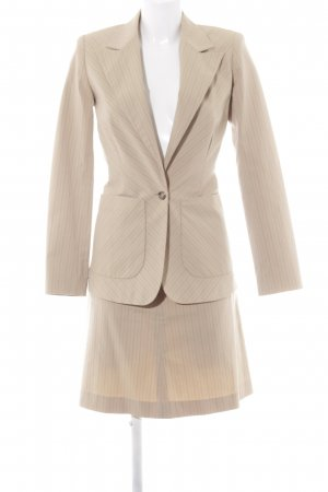 Zero Business Suit camel-dark brown striped pattern business style
