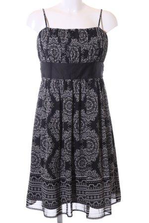 Zero Bustier Dress black-light grey flower pattern casual look