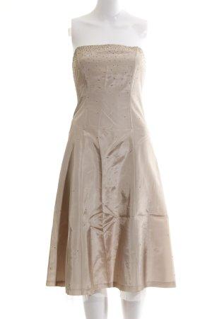 Zero Vestido bustier crema elegante