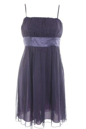 Zero Vestido bustier violeta oscuro-violeta amarronado elegante