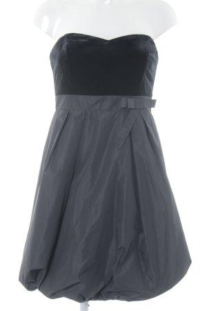 Zero Vestido bustier negro elegante