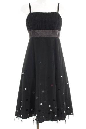 Zero Vestido bustier negro estampado a lunares elegante