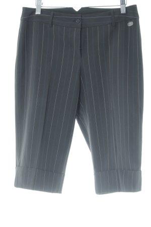Zero Pantalón capri negro-blanco estampado a rayas