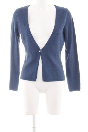 Zero Cardigan blau Business-Look