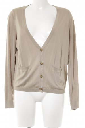 Zero Cardigan beige Materialmix-Look