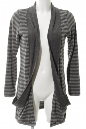 Zero Cardigan light grey-silver-colored striped pattern casual look