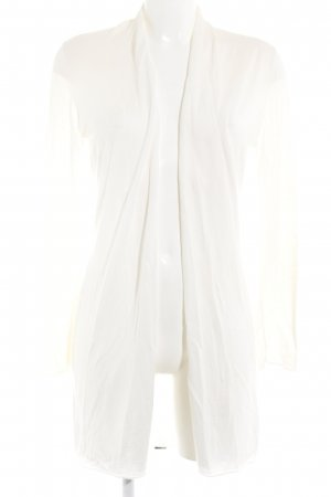 Zero Cardigan hellgelb-wollweiß Farbverlauf Casual-Look