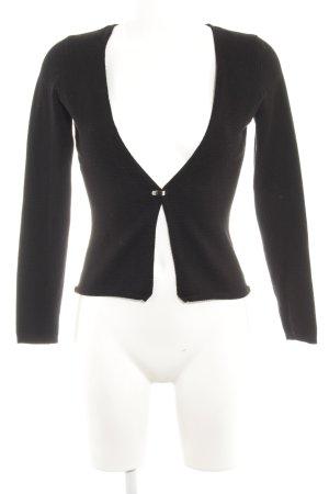 Zero Cardigan schwarz minimalistischer Stil