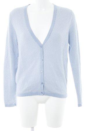 Zero Cardigan weiß-himmelblau abstraktes Muster Casual-Look